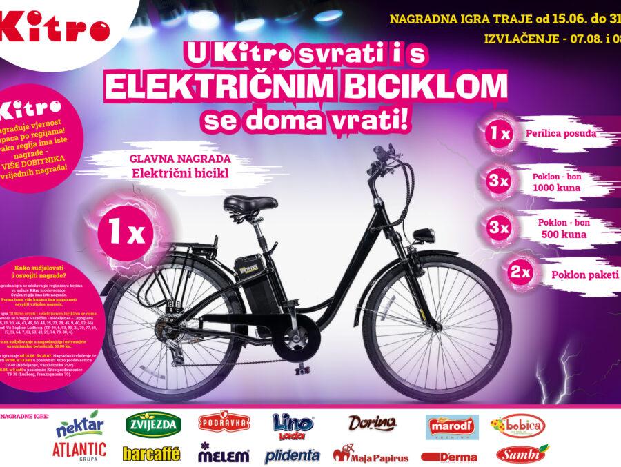 U Kitro svrati i s elek biciklom se doma vrati